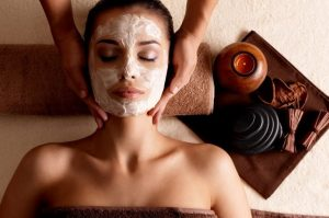 Image That Represents A Woman Taken Facial In a Renowned Massage Centre By A Professional Massage Therapist.