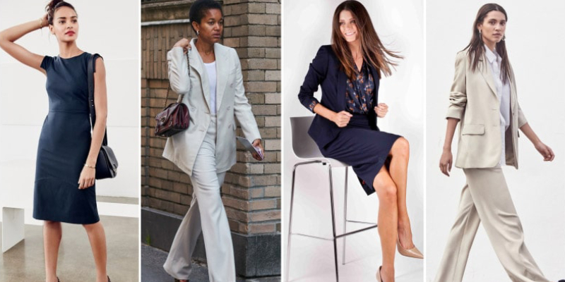 Multiple Portrait of Business Woman Representing Fashion Styles.
